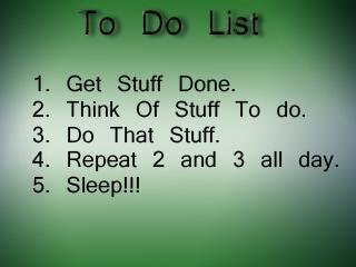 Funny To Do List
