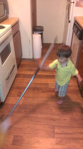 My Grandson Loves To Help Grammy Clean!