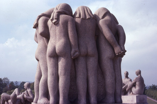 """The Girls"" - Vigeland statue in Oslo, Norway"