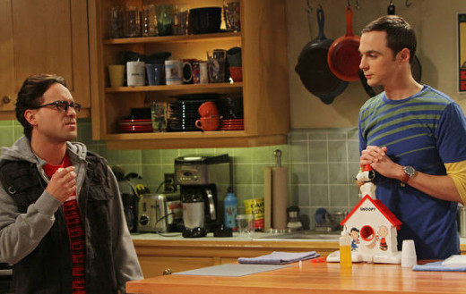 Sheldon using his Snoopy sno-cone machine