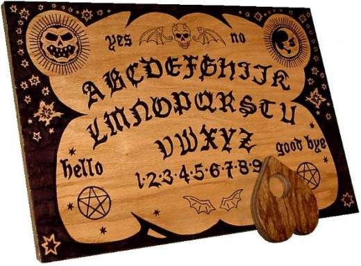 A custom ouija board. These types of tools are best to stay away from when you're first starting out.