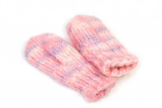 Child knitted mittens isolated on white © Stab | Stock Free Images & Dreamstime Stock Photos