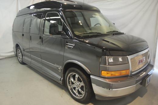 A 2009 GMC Savana Conversion Van