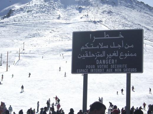An Arabic Notice
