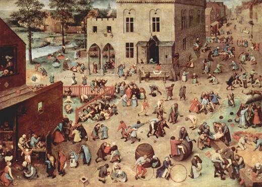 Children playing by Peter Brueghel the elder (1526/1530-1581) Kunsthistorisches Museum, Gemäldegalerie, Vienna