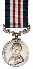 Obverse of medal and ribbon