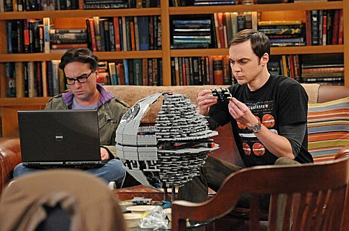 Sheldon and Star Wars Death Star II Lego