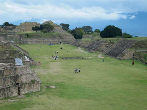 Monte Alban Grand Plaza, Oaxaca, Mexico.