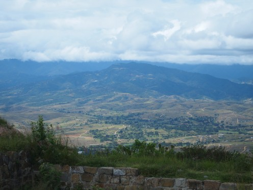 One of the many sceneries that can be seen from the flattened hilltop where Monte Alban is located.