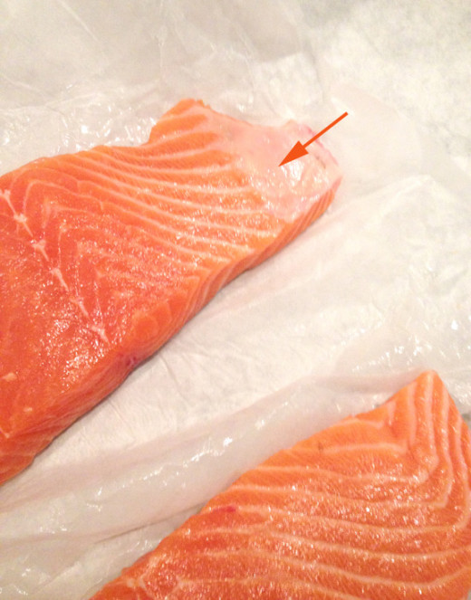 Cut away any fat that your local fishmonger didn't remove.