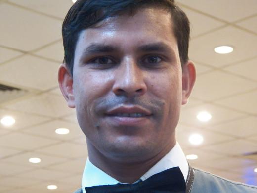 My waiter, Mohd. Ramu.  Lovely man.