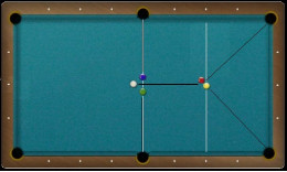 This diagram shows the approximate placement of the balls for this shot.