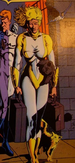 Power Girl Yellow and White Justice League Europe Costume