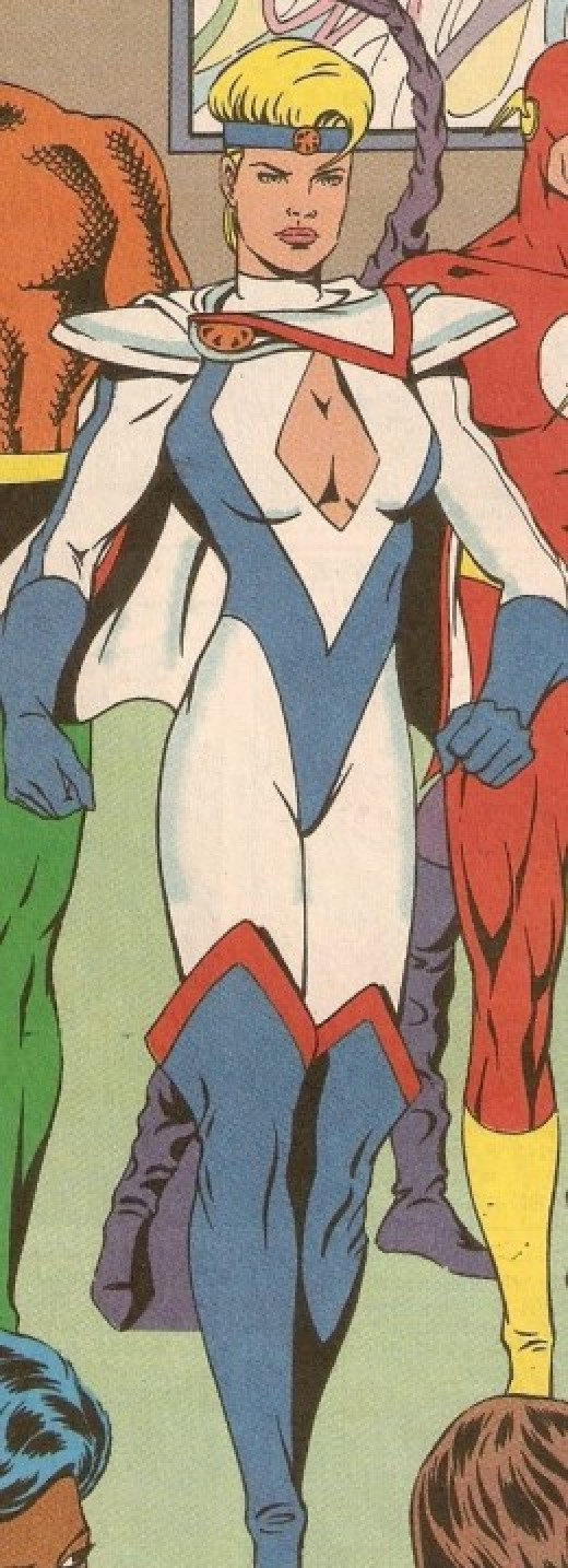 Power Girl Blue and White Justice League Europe Costume
