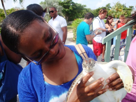 Me holding one of the hatchlings.