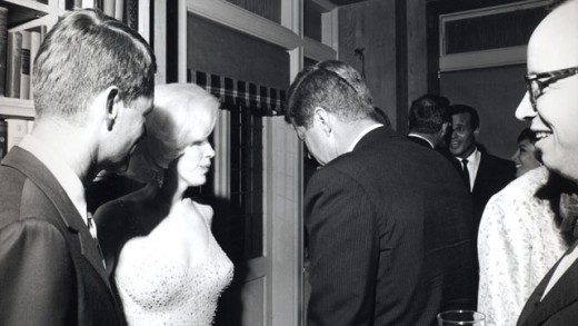 RFK, Marilyn Monroe and JFK in 1962