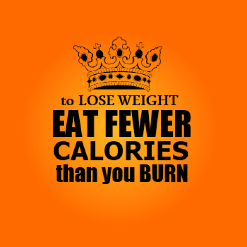 to lose weight eat fewer calories than you burn
