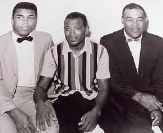 Three of the best fighters ever: Muhammad Ali, Ray Robinson and Joe Louis.