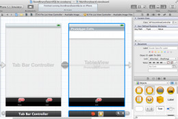 The UITableViewController in the Xcode IDE