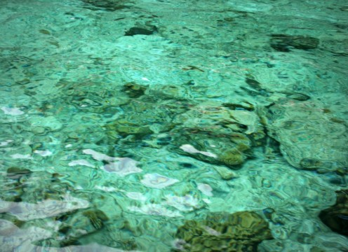 Whatever mood you're in, you will be tempted to splurge and bath in this crystal clear water.