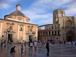 Next to the Basilica de la Virgen, you'll find the Cathedral of Valencia.