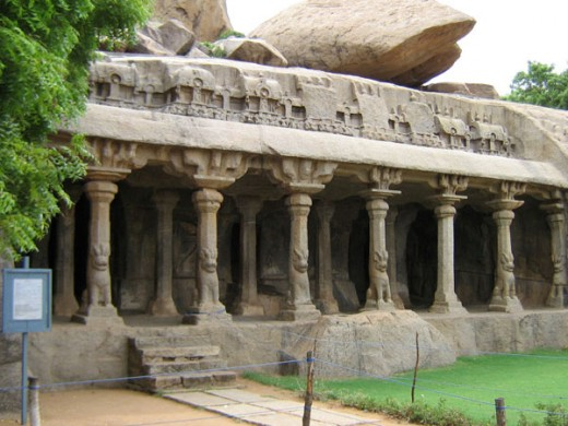 A Rock-cut Temple at Mamallapuram
