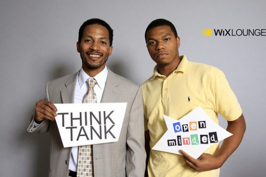Me and My brother networking at the Wix Lounge, we went with our family, and they supported my efforts there.