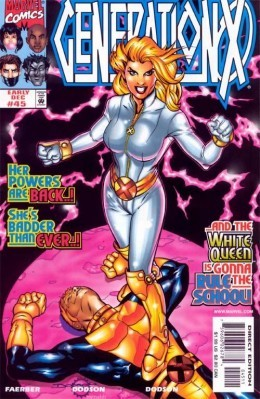 Emma Frost White and Gold Generation X Costume