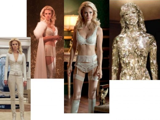 January Jones as Emma Frost in X-Men: First Class