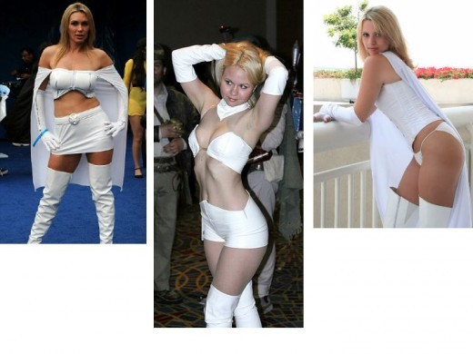 Emma Frost Cosplay Costume Models at Conventions