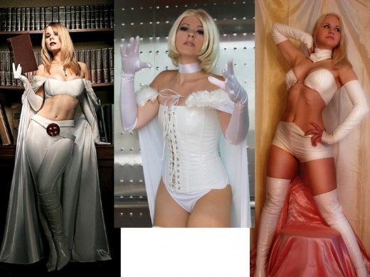 Emma Frost Cosplay Costume Models Recreate Art From Comics