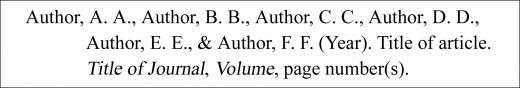 A JOURNAL ARTICLE WITH SIX AUTHORS - BASIC FORMAT
