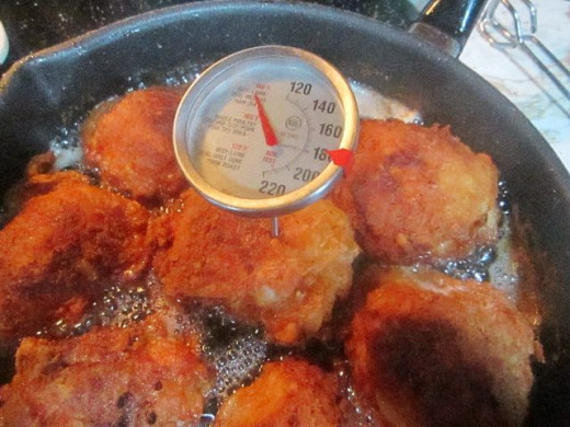 Use a meat thermometer to check temperature of chicken.