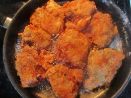 Fried chicken almost done! Yum!