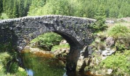 Kielder -  old stone-built bridge across the burn (stream)