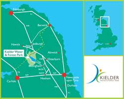 Kielder - general north-eastern England routes across and along. Take a plane or train to Newcastle-upon-Tyne and hire a car, or take it easy driving from the south
