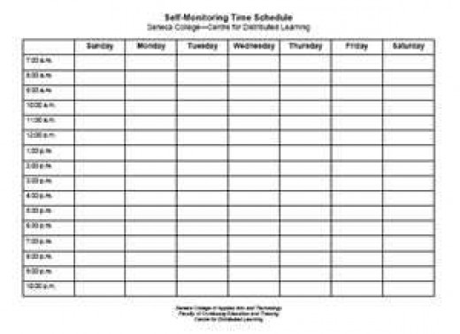 A sample schedule