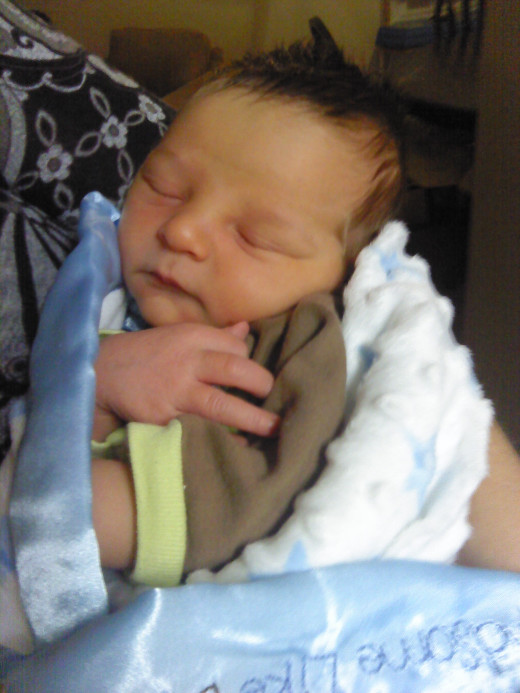 My grandson, Landon, who was born October 10, 2012