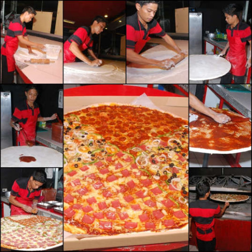The process of making pizza