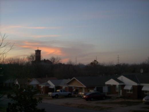 tower at morning