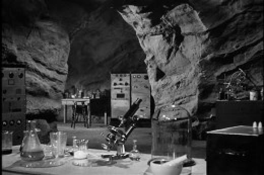 Batcave from 1949 Batman Serial