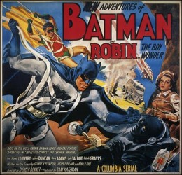 Original Batman and Robin 1949 Serial Movie Poster