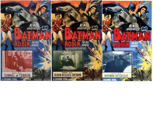 Original Batman and Robin 1949 Serial Movie Posters