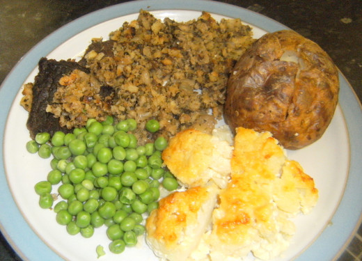 Steak Meal with Stuffing,