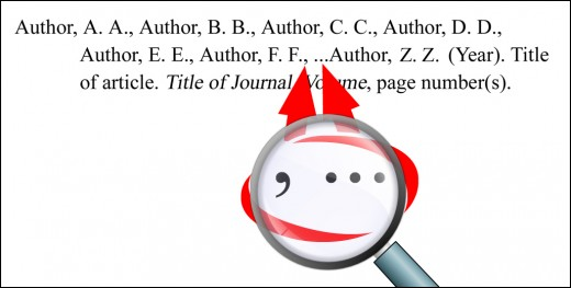 USE A COMMA AND ELLIPSIS TO INDICATE OMISSION OF AUTHORS.