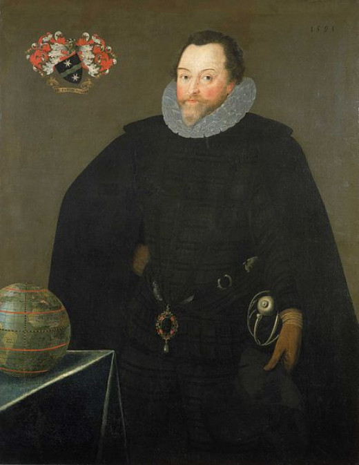 A portrait of Sir Francis Drake painted in 1591.