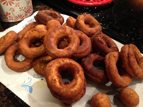 Homemade Fried Pumpkin Doughnuts with Maple Cinnamon Glaze