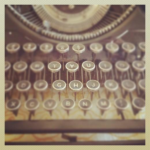 My antique Underwood typewriter.