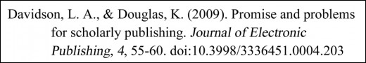EXAMPLE OF THE FORMATTED REFERENCE - TWO AUTHORS (ONLINE JOURNAL ARTICLE WITH DOI)