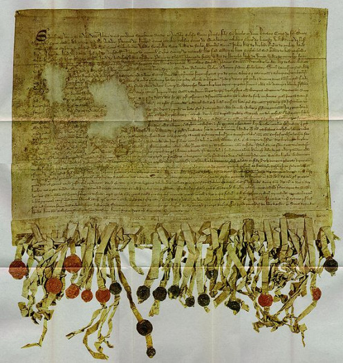 The Declaration of Arbroath was witnessed by the owner of the haunted Dalhousie Castle.